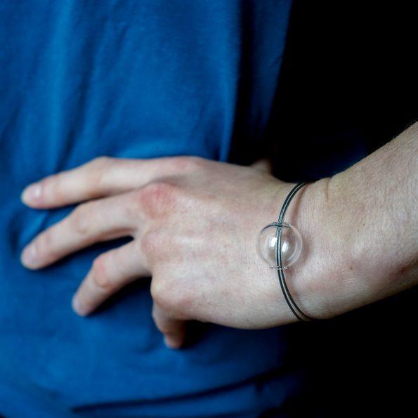 Skleněný náramek Crystal Embrace