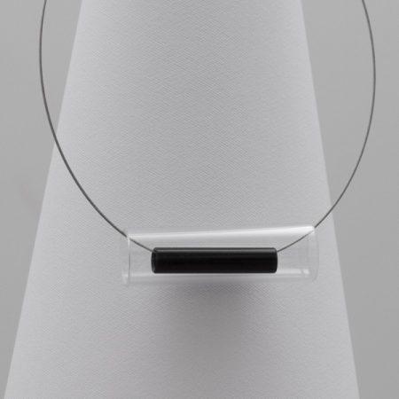 Skleněný náhrdelník TUBES černý