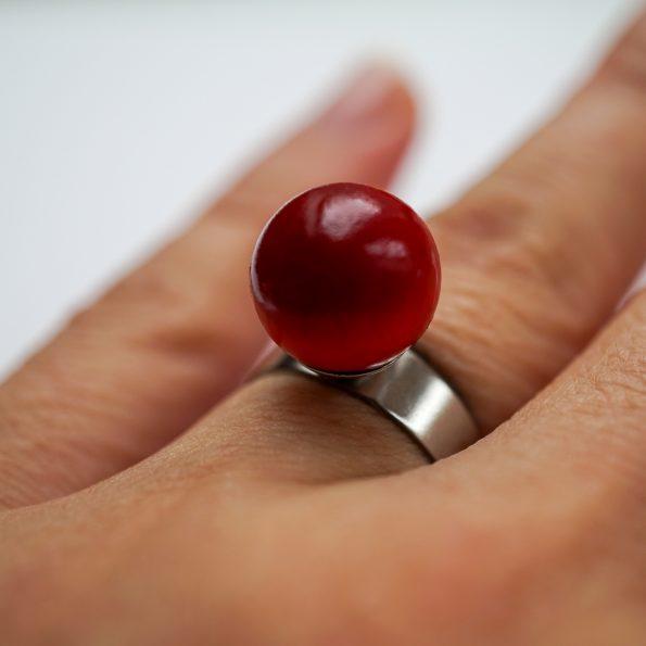 Dřevěný prstýnek Ring