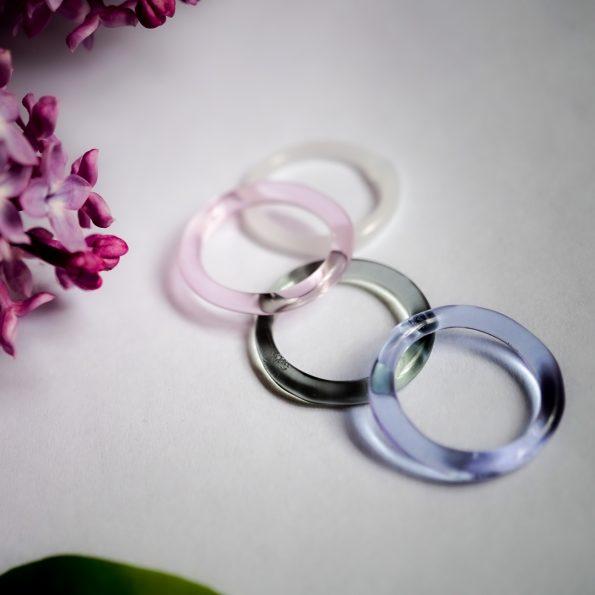 Skleněné prstýnky Lilac